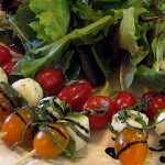 Wesley's Catering - Caprese Skewers with Balsamic Drizzle
